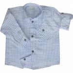 Kinder Trachtenhemd für Trachtenlederhosen Oktoberfest Trachtenmode hellblau/karo