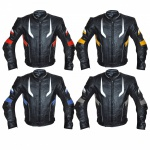 German Wear, Motorradjacke Lederjacke Chopperjacke Cruiser jacke 4x Farbkombinationen Rot, Blau, Gelb, Grau
