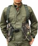 Jagdweste Weste aus Textilien Munitionsweste in Waldtan