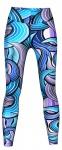 Maze Leggings sehr dehnbar für Sport, Gymnastik, Training & Fashion Lila/Blau
