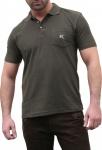 Jagd T-shirt Poloshirt für lederhosen Trachtenmode Oliv