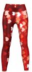 Hearts Leggings sehr dehnbar für Sport, Gymnastik, Training & Fashion Rot