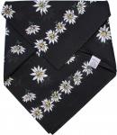 German Wear, Halstuch Trachtentuch BAUMWOLLE mit Edelweissmuster nikituch 50x50cm schwarz