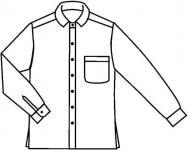 Hemd aus 100% Baumwolle, Produktionsware
