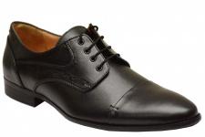 Derby Business-schuhe Lederschuhe echtleder Schuhe Schwarz