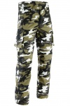 GermanWear® Motorradhose Motorradjeans, Futter aus Kevlar® stoff jeanshose Jeans mit Protektoren, militärfarbe camouflage