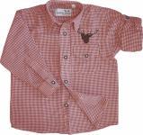 Kinder Trachtenhemd knaben Trachtenlederhosen mit Hirsch stickerei Rot-karo