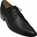 German Wear, Business-schuhe Halbschuhe Derby Lederschuhe mit Ledersohle Schuhe schwarz