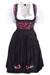 1-teiliges Midi-Dirndl Landhaus Kleid Dirndel ohne Bluse schwarz/weinrot
