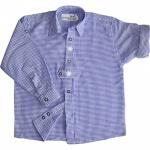 Kinder Trachtenhemd knaben trachtenhemd Trachtenlederhosen Blau-Karo
