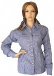 Trachtenbluse Bluse für damen Trachten Lederhose Trachtenmode Blau karo