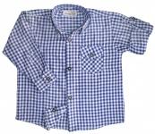 Kinder Trachtenhemd für Trachtenlederhosen Oktoberfest Trachtenmode Blau/Karo