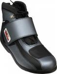 German Wear, Biker Motorradstiefel Motorrad Racing Touring Stiefel stiefletten Schwarz, Grau 17cm
