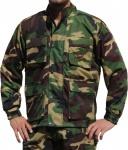 Jagdjacke Jacke Textilien in Militärfarbe mit Hirsch Stickerei