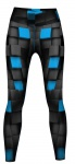 Techno Snake Leggings sehr dehnbar für Sport, Gymnastik, Training & Fashion Schwarz/Türkis