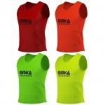 12 Stück OMKA Fußball Leibchen Trainingsleibchen Markierungshemd Fußballleibchen für Kinder Jugend und Erwachsene