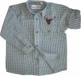 Kinder Trachtenhemd knaben Trachtenlederhosen mit Hirsch stickerei Grün-karo