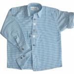 Kinder Trachtenhemd knaben Trachtenlederhosen mit Edelweiss Blau-Karo