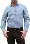 German Wear, Trachtenhemd für Lederhosen aus Baumwolle grün/kariert