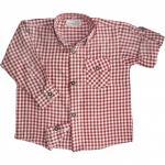 Kinder jungen Trachtenhemd für Trachtenlederhosen Oktoberfest Rot/karo