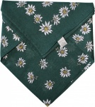 German Wear, Halstuch Trachtentuch BAUMWOLLE mit Edelweissmuster nikituch 50x50cm dunkelgrün