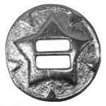 RadMasters 4 x Conchos für Biker Westen Kutte Western Leder Weste 3 cm Ø aus Metall Silber