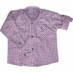 Kinder Trachtenhemd für Trachtenlederhosen Oktoberfest Trachtenmode lila/karo