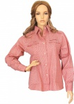 Trachtenbluse Bluse für damen Trachten Lederhose Trachtenmode Rot/karo