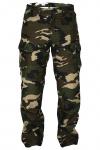 GermanWear® Motorradhose Motorradjeans, Futter aus Kevlar® stoff Cargohose mit Protektoren, militärfarbe camouflage
