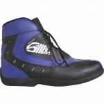 German Wear, Motorrad Trends bikers Stiefel Motorradstiefel Stiefelette Blau/Schwarz 18, 5cm