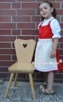 3-tlg Kinder Dirndl Mädchendirndl dirndlbluse dirndlschürze kleid Rot/weiss
