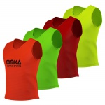 6 Stück OMKA Fußball Leibchen Trainingsleibchen Markierungshemd Fußballleibchen für Kinder Jugend und Erwachsene