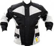 Motorrad-Jacke Motorradjacke aus Textilien Kombigeeignet schwarz/grau XS-5XL