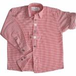 Kinder Trachtenhemd knaben für Trachtenlederhosen mit Edelweiss ROT-karo