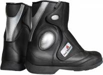 German Wear, Motorrad Trends bikers Stiefel Motorradstiefel Stiefelette Schwarz 21, 5cm