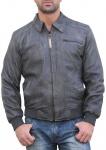 German Wear, Trend Lederjacke lammnappa echtleder Jacke aus Lamm Nappa Leder grau