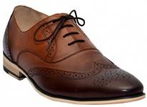 Business Oxford Schuhe Brogues Lederschuhe Schuhe braun