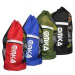 OMKA Fußball Rugby Handball Ballsack Reisetasche Carry Bag mit Schultergurt für 10 Bälle