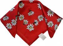 Halstuch Trachtentuch Polyester Edelweiss-muster nikituch 50x50cm 11x Farbtöne