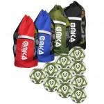 OMKA 10x Bälle Smach inkl. Fußballsack Reisetasche mit Schultergurt