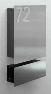 briefkasten edelstahl zeitungsbox hausnummer kaufen bei z e d susan richter. Black Bedroom Furniture Sets. Home Design Ideas