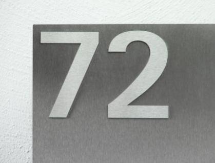 Briefkasten Edelstahl Hausnummer freistehend - Kaufen bei z-e-d ...