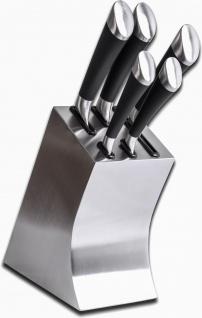 Edelstahl Messerblock mit 5 Messern, Küchenmesser, Messer, Neu & OVP eckig - Vorschau 2