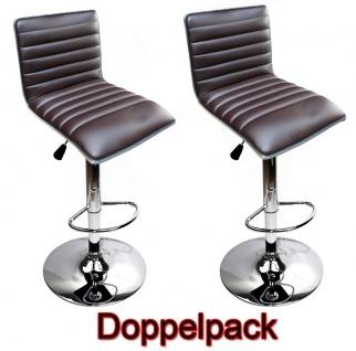 2 x EDEL Designer Barhocker Bar Tresen Hocker Stuhl M31 braun