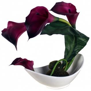 Kunstblume in Schale, Deko, Seidenblume, Blumen, künstliche Blume, Kunstpflanze B1004 - Vorschau