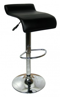 Design Barhocker Bar Hocker Stuhl Barstuhl Tresen M6 Schwarz mit Lehne NEU & OVP