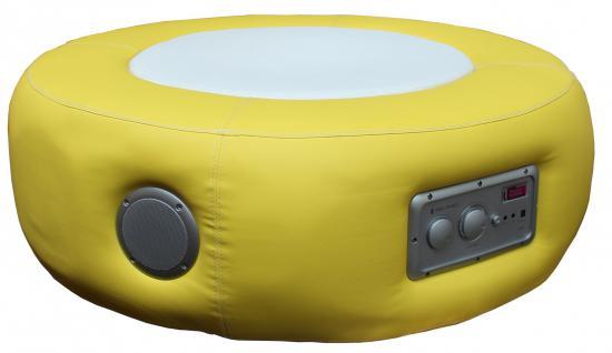 Multimediahocker Sitz Loop Pro Soundhocker Musikhocker Multimedia gelb
