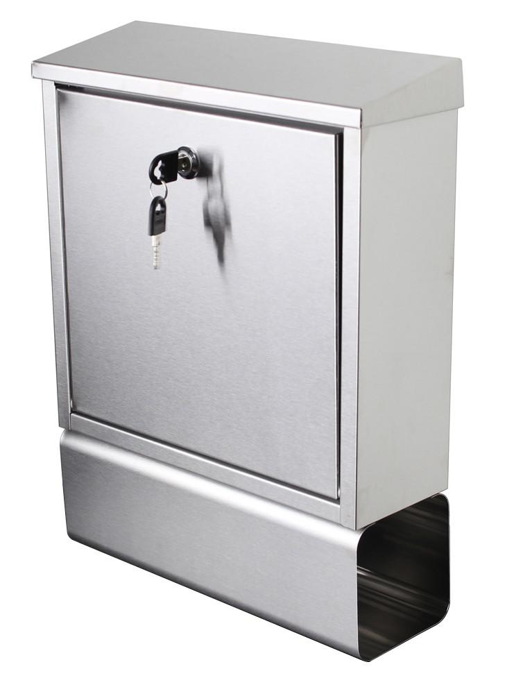 briefkasten edelstahl rostfrei postkasten post brief kasten zeitungsfach mail p1 kaufen bei. Black Bedroom Furniture Sets. Home Design Ideas