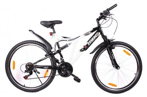 MBC Mountainbike Power 26 Zoll Jugendfahrrad SHIMANO Fahrrad Weiß Schwarz