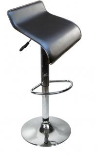 Designer Barhocker Bar Hocker Stuhl Barstuhl Tresen M6 braun mit Lehne NEU & OVP